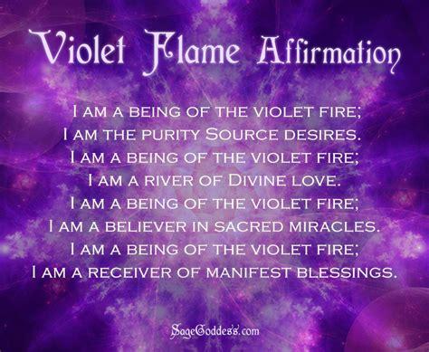 violet flame  meditation  ritual