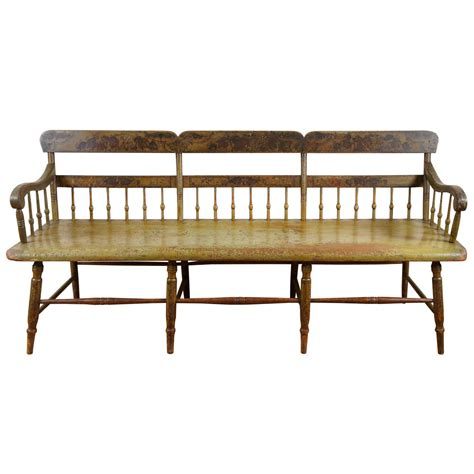 spindle bench pennsylvania original painted spindle bench at 1stdibs
