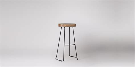 Welles Wooden Black Bar Stool Swoon Editions