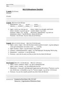 speech and language report template 1000 ideas about preschool checklist on