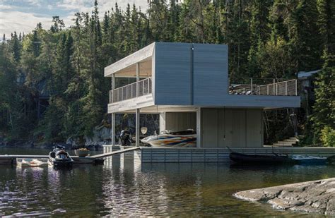 modern boat a modern boat house with spectacular vistas home design