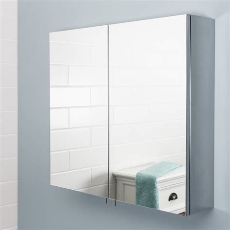 Bathroom Mirrored Cabinet Vasari Stainless Steel Bathroom Cabinet Mirror Doors