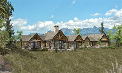 rancher logging ranch log home floor plans 1 story log home plans ranch