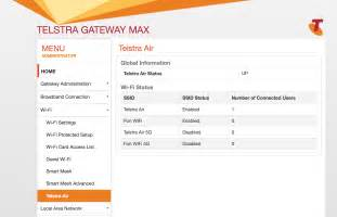 Cable Gateway Max Not Broadcasting Telstra Air Ssi