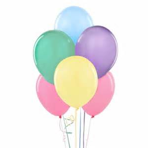 12 quot assorted pastel colored balloons