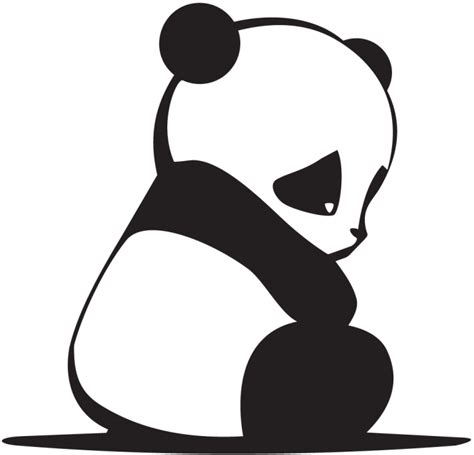 jdm panda sticker jdm sad panda autocollants stickers