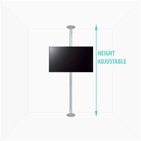 Tv Bracket Adjustable Up And 1 4m Thick 400 X 400 Pitch 7 0c T30 4 b tech btftc 3m l chr ceiling mounts