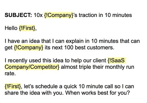 email sales template the cold email template that got 16 new b2b customers