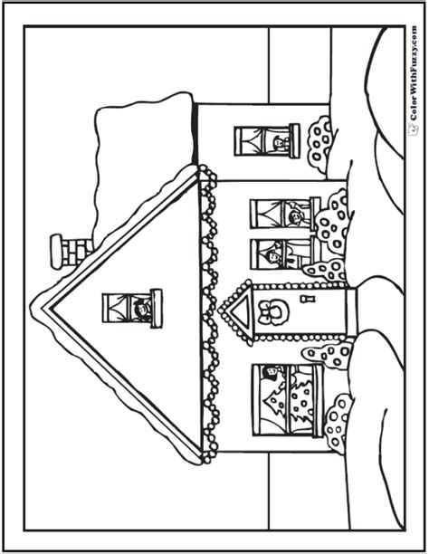 decorated house coloring pages christmas house coloring sheet
