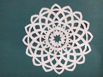 Paper Cutting And Folding - fold and cut paper cutting