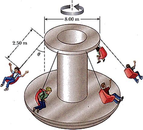 swing ride physics an amusement park ride consists of a rotating circ