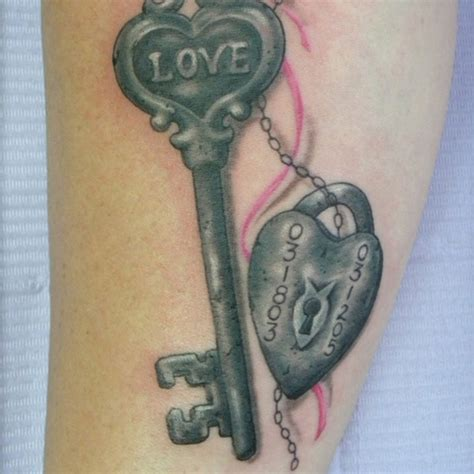 lock and key tattoo for couples 30 fancy lock and key tattoos creativefan