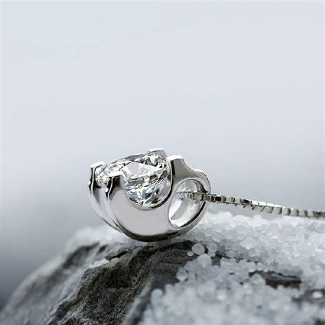 Kalung Wanita White clavicle pendant white rodhium 925 sterling silver kalung wanita white elevenia