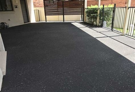 minimum maintenance and added beauty with spray on paving