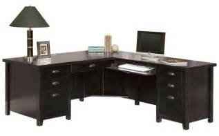 Executive L Shaped Desk Tribeca Loft Black Office Furniture Series Pedestal Executive Desk