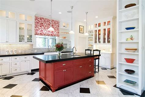 red kitchen islands traditional dark red kitchen island decoist