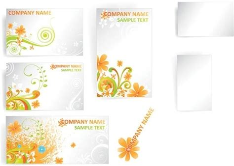flower card template simple flower card template vector fashion free vector in