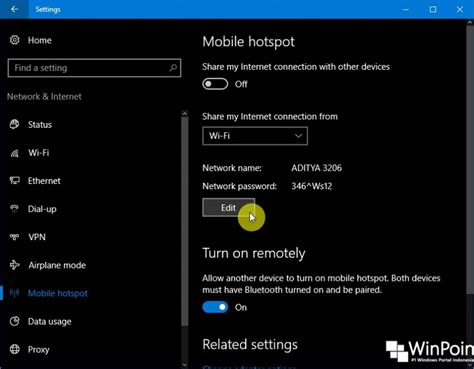 cara membuat hotspot dengan wifi laptop di windows xp cara mengganti nama dan password mobile hotspot di windows