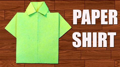 How To Make A Shirt With Paper - how to make paper shirt diy origami paper crafts
