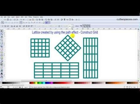 inkscape tutorial laser cutting create lattice designs in inkscape by using the path