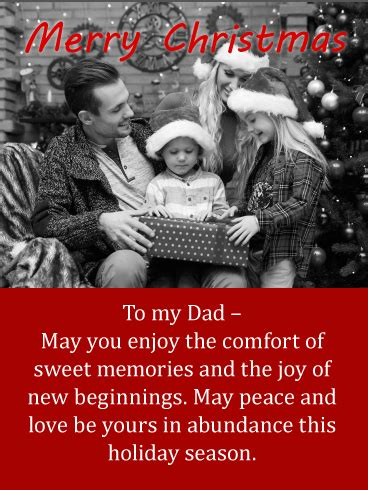 sweet memories merry christmas wishes card  father birthday greeting cards  davia
