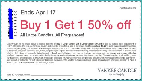 printable bogo yankee candle coupons yankee candle coupon bogo 50 off large candles ftm