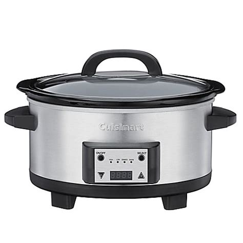 slow cooker bed bath and beyond cuisinart 174 6 5 quart programmable slow cooker bed bath beyond