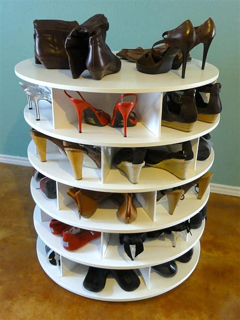 diy lazy susan shoe rack 25 shoe organizer ideas decorating and design ideas for