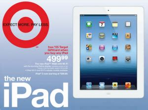 Ipad With Gift Card Offer - target ipad deals 25 gift card my frugal adventures