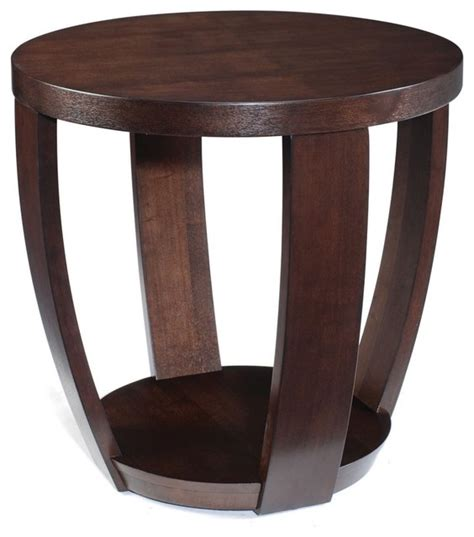 accent side tables magnussen t1579 sotto wood round end table modern side