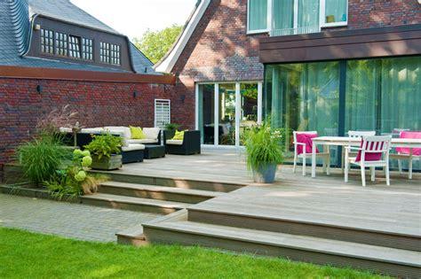 Terrasse Mit Stufen by Gartenanlage Gro 223 Z 252 Gige Terrasse Renovierter Vorgarten