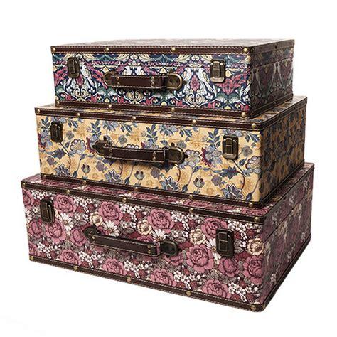 Decorative Suitcase by Large Shabby Vintage Chic Floral Design Decorative Storage