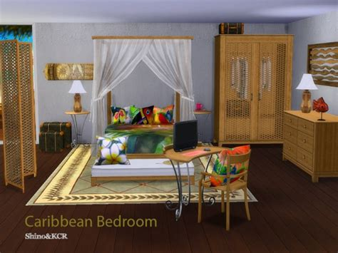caribbean bedroom furniture the sims resource bedroom caribbean by shinokcr sims 4