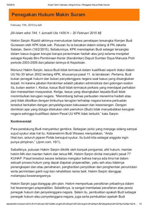 penegakan hukum di indonesia upload share and discover penegakan hukum makin suram