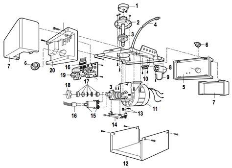 Garage Door Diagram Parts Liftmaster 1265 Garage Door Opener Parts