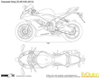 kawasaki ninja coloring page the blueprints com vector drawing kawasaki ninja zx 6r 636