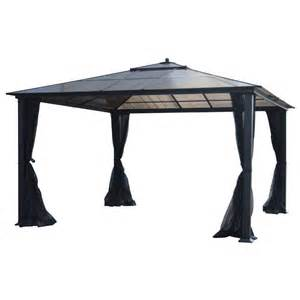 garden treasures 12 ft x 12 ft square hardtop gazebo
