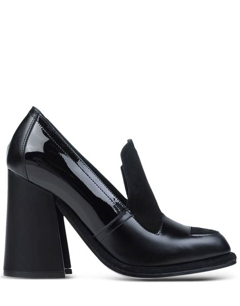 jw loafers j w contrast leather loafers in black lyst