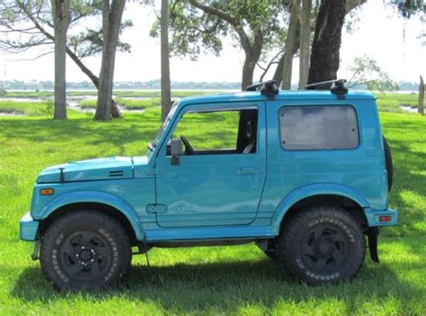 brand new paint runs well 1988 tin top suzuki samurai jx 4x4 suv