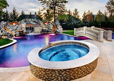 Extremely Amazing Swimming Pools Ideas 20 Awesome Swimming Pools With Water Slides Homes Of The Rich