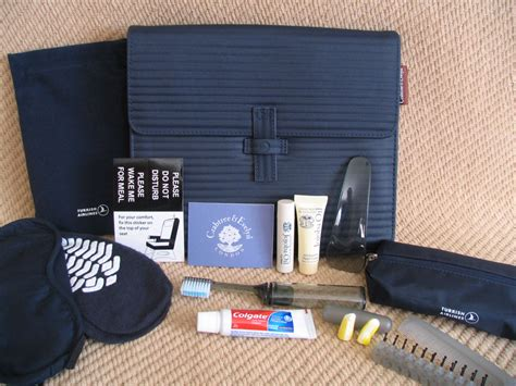 amenity kit review turkish airlines business class