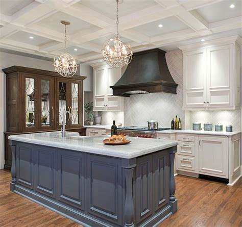 painted kitchen island ideas transitional kitchen renovation home bunch interior