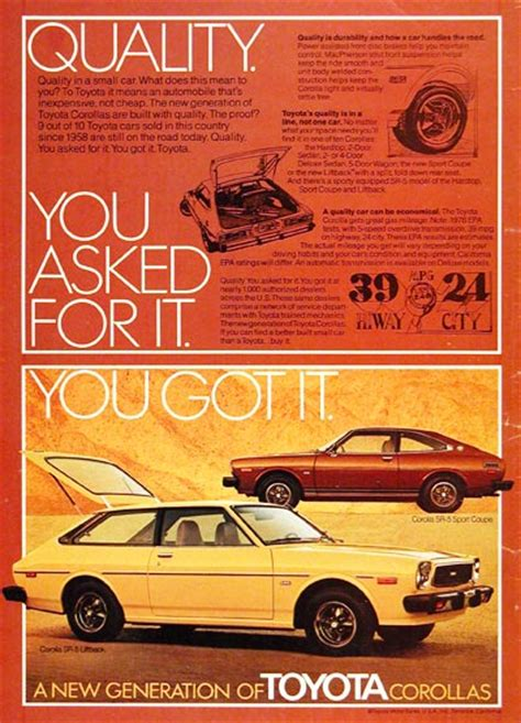vintage toyota ad 1976 toyota corolla sr 5 classic vintage print ad