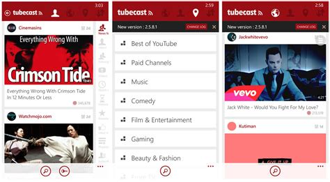 youtube app layout tubecast a nifty windows phone youtube app for casting to