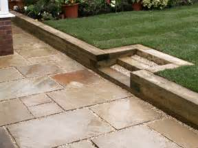 railroad ties in landscape recycling ideas