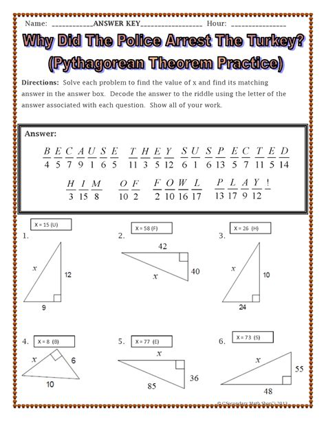 Pythagorean Theorem Worksheets by 100 Pythagorean Theorem Worksheets Pythagorean
