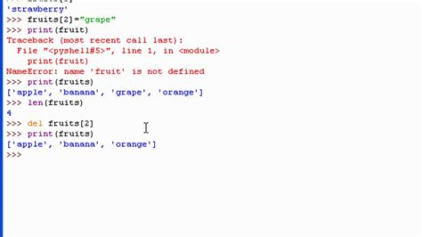 tutorial python list python 3 tutorial 14 lists youtube