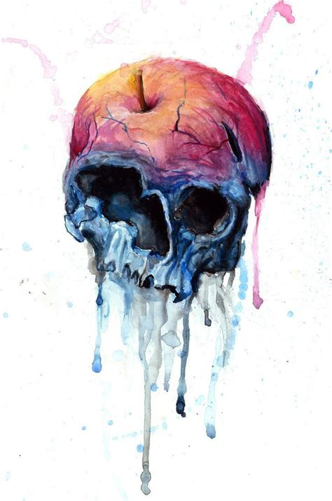skull color skull color snow white snow and watercolor