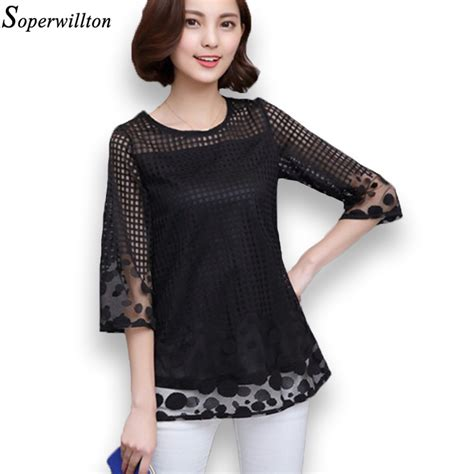 Blouse Fashion soperwillton s summer blouses chiffon tops and blouses 2017 new fashion