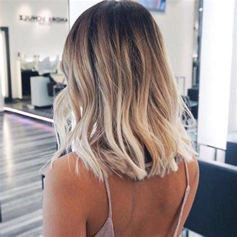 25 best ideas about shoulder length balayage on pinterest pictures blonde ombre for medium hair black hairstle